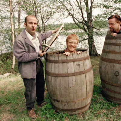 Heikki Silvennoinen, Timo Kahilainen ja Heikki Hela vuonna 1999.