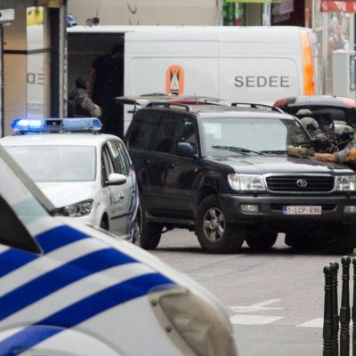 Falskt bomblarm i centrum av Bryssel den 20 juli. En psykiskt sjuk man bar på ett falskt bombbälte.