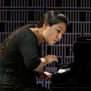 Eteläkorealainen Yedam Kim soittaa Maj Lind -kilpailun alkuerässä.