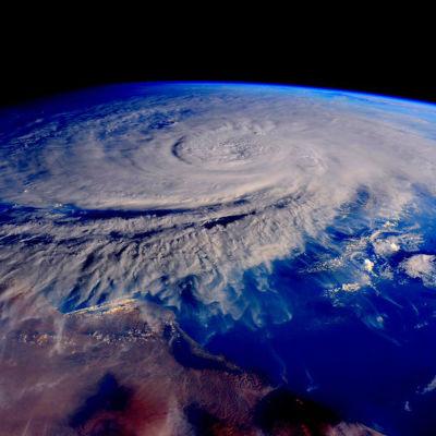 Cyklonen Chapala som slog till mot Jemen i november 2015