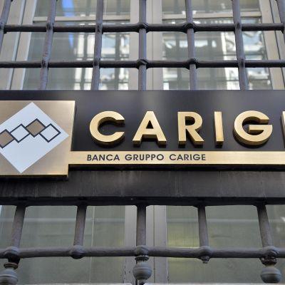 Carige pankki Genoassa Italiassa.