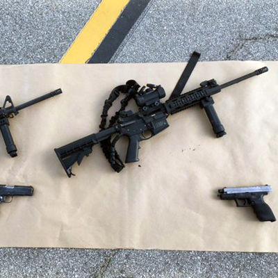 Vapnen som användes i San Bernardino