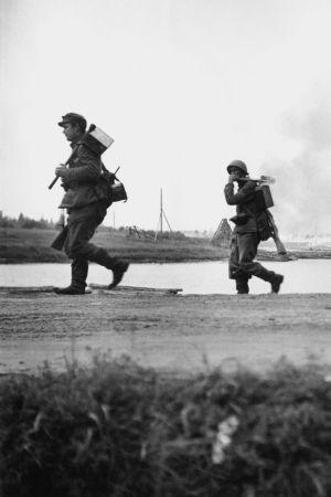 Finska soldater vid Aunus (Olonets), 1941