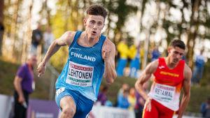 Oskari Lehtonen springer, U23-EM 2019.