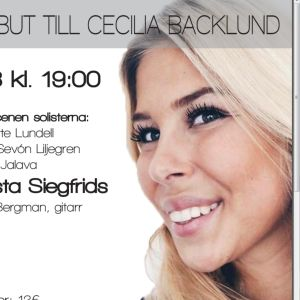 Affisch; tribut till Cecilia Backlund.