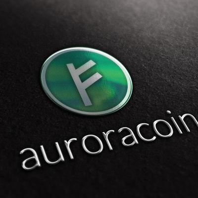 Isländsk cybervaluta auroracoin, logga