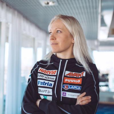 Kaisa Mäkäräinen inför världscuphelgen i Kontiolahti år 2018.
