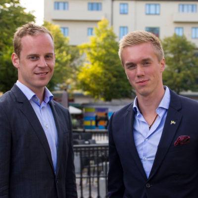 Gustav Kasselstrand och William Hahne.