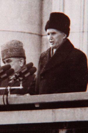 Nicolae Ceausescu håller sitt sista tal till folket den 21 december 1989, fyra dagar innan han arkebuserades.
