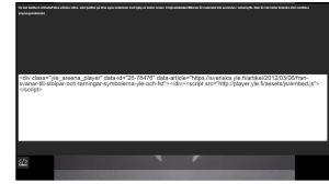 Skärmdump av hur det ser ut när man bäddar in Arkivets material, 2016