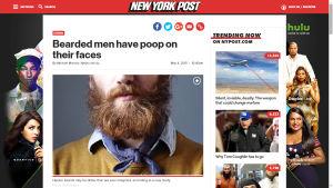 Kuvakaappaus New York Postin uutisesta