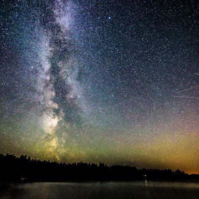 Vintergatan över Barösund.