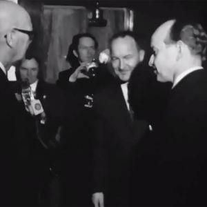 """Presidentti Kekkonen """"tammikuun kihlauksen"""" 30-vuotisjuhlissa Palacessa 1970."""