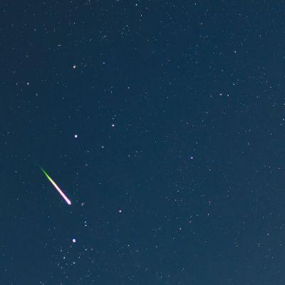 Kuva tähdenlennosta on otettu Saksassa elokuussa 2014.