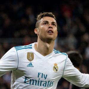 Cristiano Ronaldo firar mål för Real Madrid.