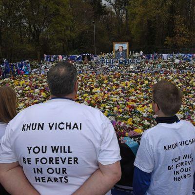 Leicester kunnioittaa kuollutta omistajaa