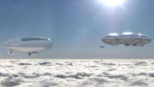 Nasas konceptstudie av luftskepp ovanför Venus.