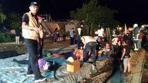 Tågolycka i Taiwan.