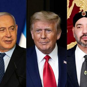 Bildkollage på tre män i kostymer och slips.
