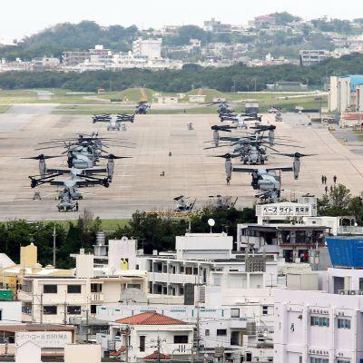 Yhdysvaltain laivaston lentotukikohta Okinawan saarella Japanissa.