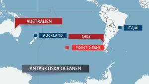 Karta över Södra Oceanen.