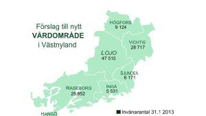 Förslag till nytt Västnyländskt vårdområde