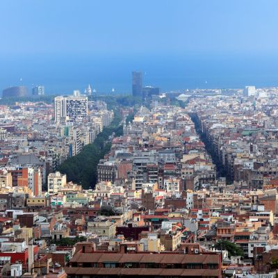 Barcelonan ruutukaava-alueille on suunniteltu autottomia alueita.