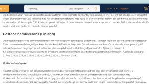 En skärmdump från ett företags hemsida.