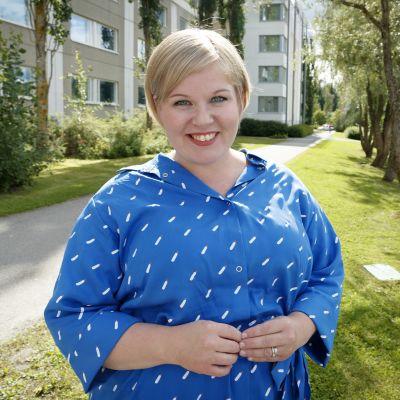 Puheenjohtajaehdokas Annika Saarikko.