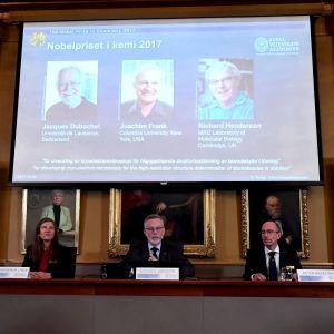 Nobelpriset i Kemi delas ut.