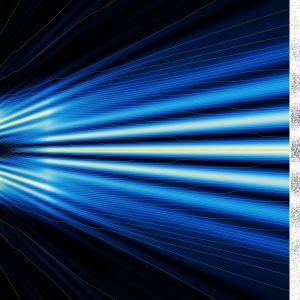 Dubbeltspaltexperimentet, ett experiment inom kvantfysik som visar på våg-partikel-dualitet.