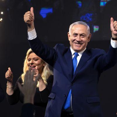 Israelin pääministeri Benjamin Netanjahu ja hänen vaimonsa Sarah.