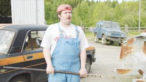 Janne Kataja Korpelan kujanjuoksu-sarjan kuvauksissa (roolinimi Jaska Alho)