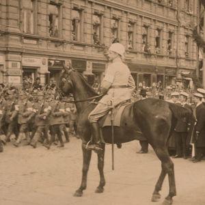 Valkoisen armeijan voitonparaati Helsingissä 16.5.1918.