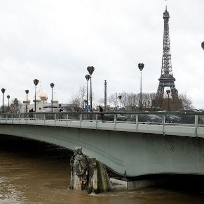 Le Zouave du Pont de l'Alma veden varassa keskiviikkona 24.1.2018.