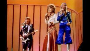 Svenska Abba tog hem vinsten i Eurovisionen år 1974.