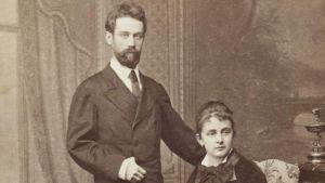 Konstnären Egon Schieles föräldrar Adolf och Marie Schiele.