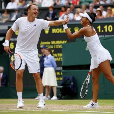 Pari Kontinen-Watson ylsi toisen kerran peräkkäin Wimbledonin sekanelinpelissä finaaliin