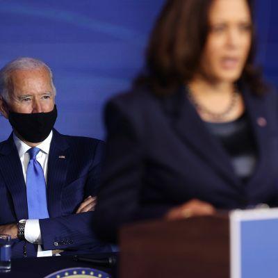 Presidenttiehdokas Joe Biden ja varapresidenttiehdokas Kamala Harris.