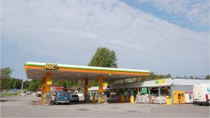 ABC-bensinmacken i Pickala i Sjundeå.