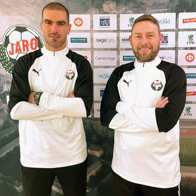Pavle Milosavljevic och Jimmy Wargh, FF Jaros tränarduo