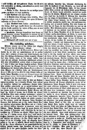 Sida ur Helsingfors Tidningar 08.12.1849