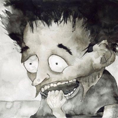 Mustemaalaus pelokkaasta hahmosta