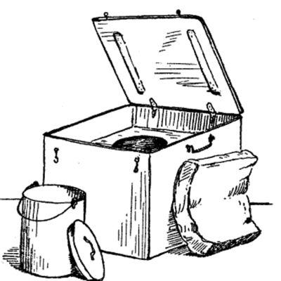 Koklådan användes för långkok
