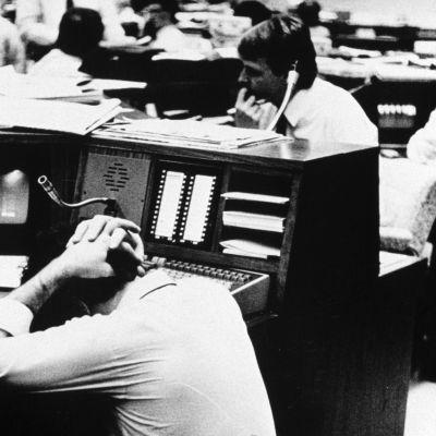 Epätoivoa Lontoon pörssissä lokakuussa 1987.