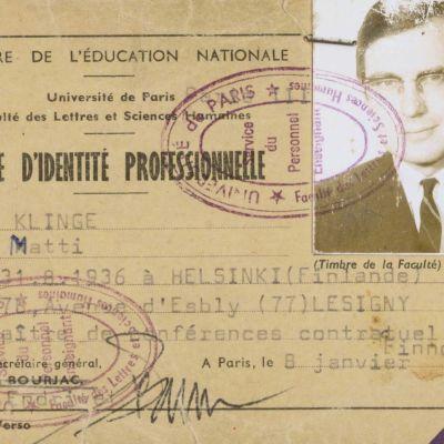Henkilökortti Pariisin yliopisto