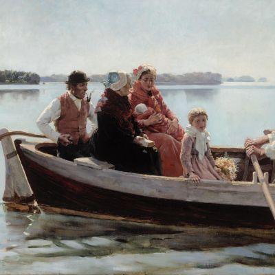 Albert Edelfeltin maalaus Ristiäissaatto.
