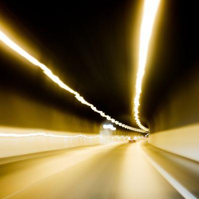 Motorvägstunnel på vägen mot Åbo.