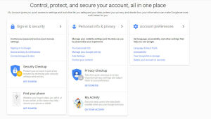Google - My Account