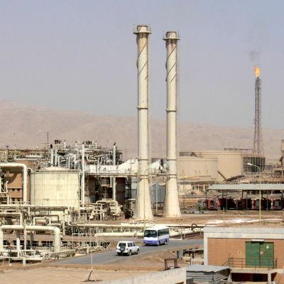 Oljeraffinaderiet i Baiji, Irak.